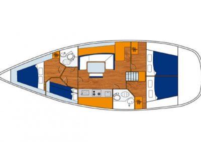 Beneteau-Cyclades-Yat-Kiralik (51)